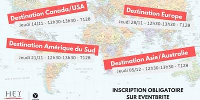 Présentation séjour d'études à l'étranger - Zone Asie / Océanie