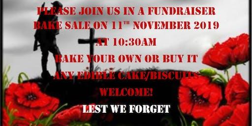 Remembrance Day Fundraiser Bake Sale at Regus, Gloucester Docks