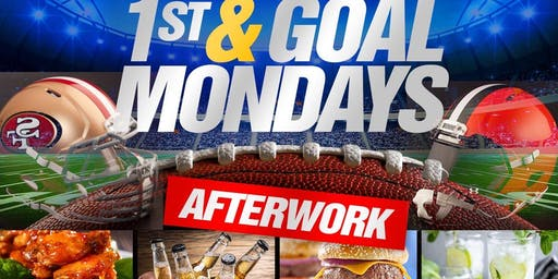 1st & Goal Mondays AfterWork at Jimmy's; Monday After Work Happy Hour followed by NFL Monday Night Football Viewing