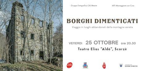 Conferenza BORGHI DIMENTICATI tickets