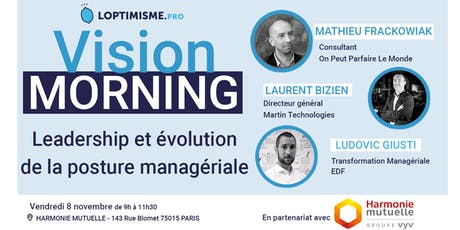 Vision Morning - Leadership et évolution de la posture manageriale billets
