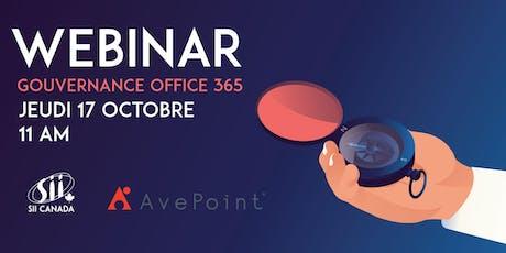 Webinar - La gouvernance d'Office 365 billets