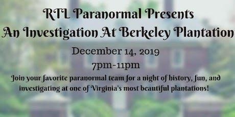 RTL Presents Investigating Berkeley Plantation tickets