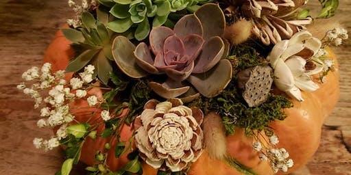 Pumpkin Succulent Diffuser Workshop-Saturday