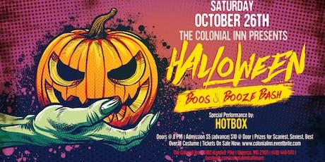 Halloween Boos & Booze Bash w/ Hotbox tickets