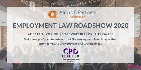 Employment Law Roadshow 2020 - Chester tickets
