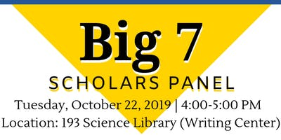 UCI Scholarship Opportunities Program - Fall 2019 - Big 7 Scholars Panel