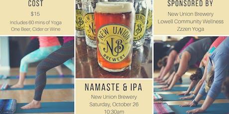 Namaste & IPA tickets