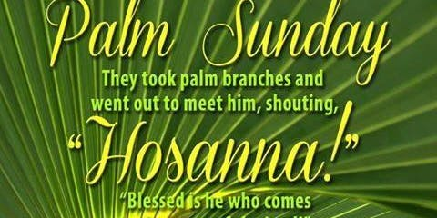 Palm Sunday of the Lord's Passion Saturday 5:30 Mass