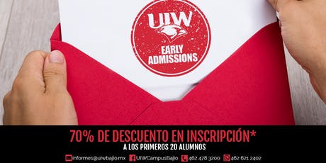 Early Admissions UIW entradas