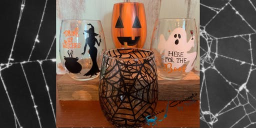 Halloween Wine Glass Paint Afternoon