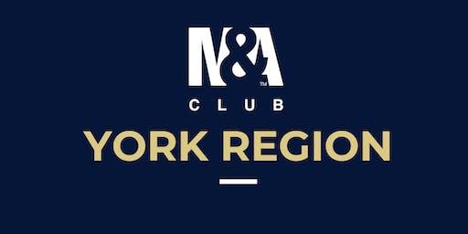 M&A Club York Region : Meeting October 30th, 2019