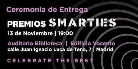 Premios Smarties 2019 - Ceremonia de entrega entradas