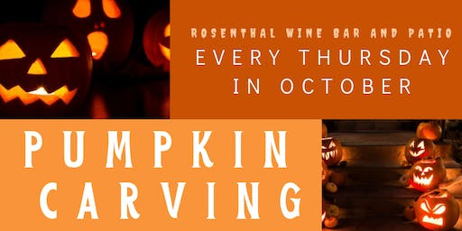 Pumpkin Carving Every Thursday!