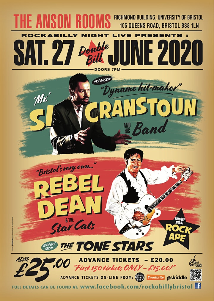 Si Cranstoun & Rebel Dean Double Bill with Support from The Tone Stars image