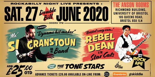 Si Cranstoun & Rebel Dean Double Bill with Support from The Tone Stars