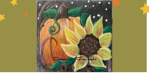 Hints of Fall Slate Paint Night