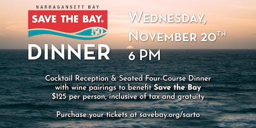 Save the Bay Dinner at Sarto