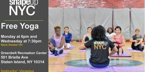 Greenbelt Recreation Center : Free Yoga with Shape Up