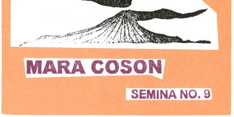 Mara Coson's Aliasing and more from the Semina series ed. by Stewart Home tickets