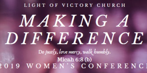 Making A Difference 2019 Women's Conference