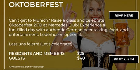 Oktoberfest at Mercedes Club tickets