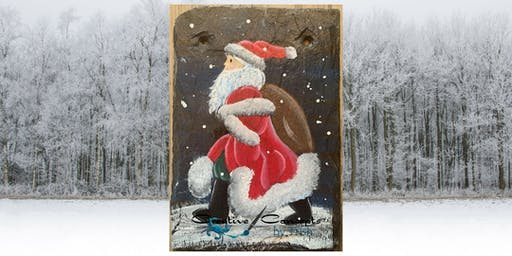 """Santa Claus is Comin' to Town"" Slate Paint Night"