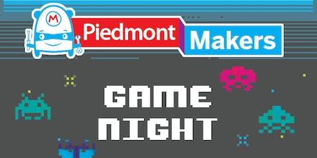 Piedmont Maker's Game Night tickets