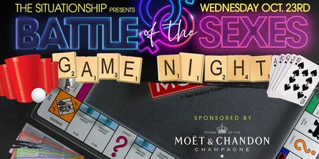 Weds 10/23: Battle of the Sexes Afterwork/Game Night Experience at TaJ NYC. tickets