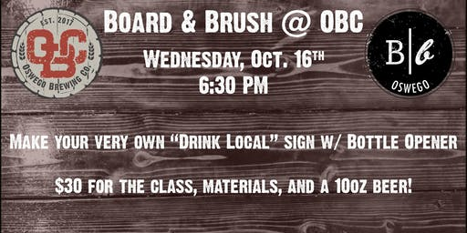 Board & Brush at Oswego Brewing Co.