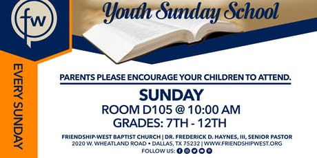 Youth Sunday school  tickets