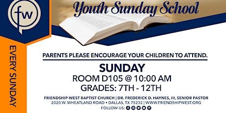 Youth Sunday school  tickets