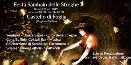 Festa Samhain delle Streghe al Castello di Foglia biglietti