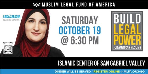 Build Legal Power for American Muslims with Linda Sarsour - Rowland Heights, CA