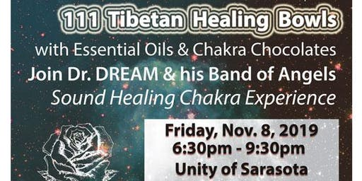 111 Healing Bowls, Essential Oils & Chocolate Experience, Sarasota, FL
