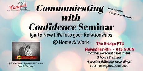 Communicate with Confidence November Peachtree City, GA tickets