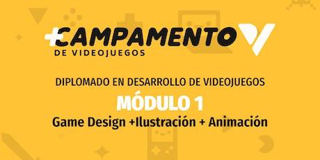 Diplomado de Game Design, arte y animación de videojuegos boletos