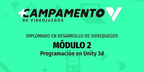 Diplomado de Programación básica de videojuegos en Unity boletos