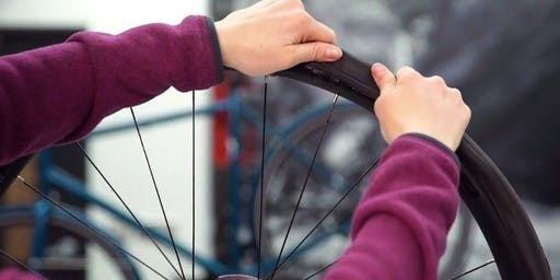 Trek Women Santa Rosa's Flat Fixing and Tire Tricks Clinic