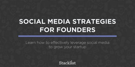 Social Media Strategies for Founders tickets