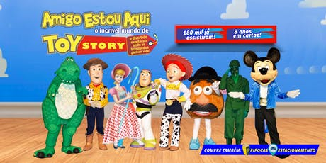 Desconto: Espetáculo Amigo Estou Aqui, o incrível Mundo de Toy Story, no Teatro BTC ingressos