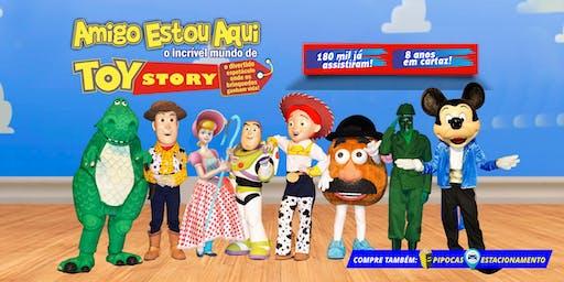 Desconto: Espetáculo Amigo Estou Aqui, o incrível Mundo de Toy Story, no Teatro BTC