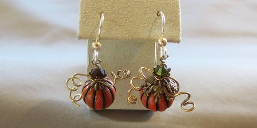 autumnal fruits earring; basic wirework
