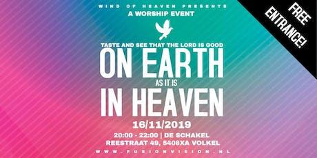 ON EARTH AS IT IS IN HEAVEN tickets
