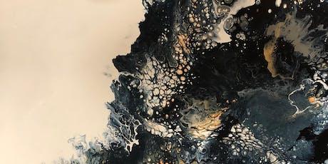 Explore the Pour - Acrylic Pour on 20 x 20 Canvas tickets