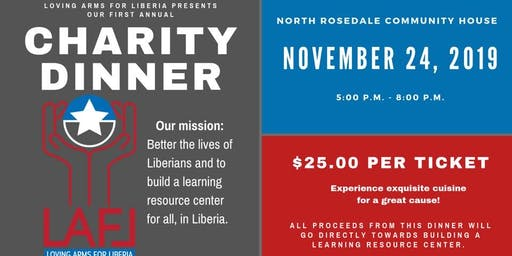 Charity dinner to build a learning resource center.