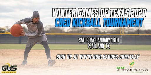 Winter Games of Texas 2020 - Coed Kickball Tournament