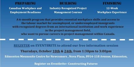 Constructing Futures Program Info Session - EMCN, 8914-118 Ave Location tickets
