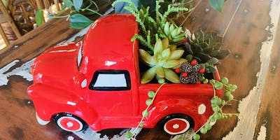 Make it & Take it: Lil' Red Truck Succulent Planter