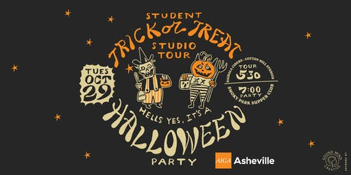 AIGA Asheville Student Trick or Treat Studio Tour and Halloween Party